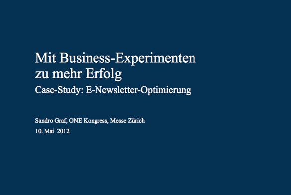 BEA™ Test & Learn: Case-Study E-Newsletter-Optimierung