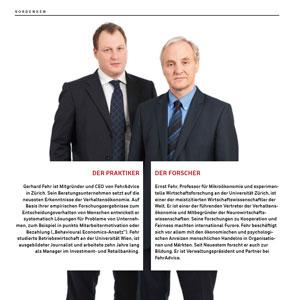 """Interview mit Ernst & Gerhard Fehr: """"Wir müssen genau analysieren"""""""