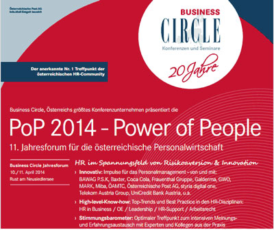 "Terminankündigung: FehrAdvice beim ""PoP 2014 – Power of People"""