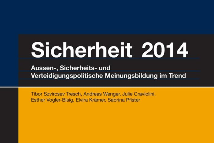 """Studie """"Sicherheit 2014"""": Aussen-, sicherheits- und verteidigungspolitische Meinungsbildung der Schweiz im Trend"""