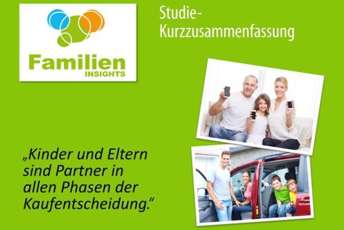 Familien Insights-Studie: Kinder und Eltern sind Partner in allen Phasen der Kaufentscheidung