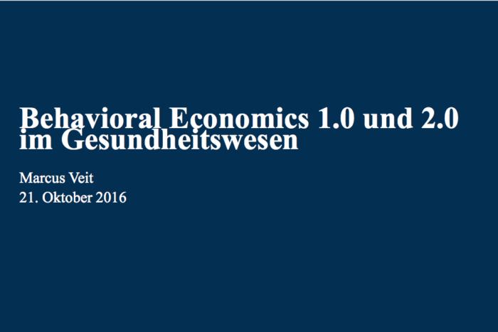 Behavioral Economics im Gesundheitswesen: Neue Wege für eine effiziente Gesundheitspolitik