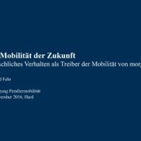 Die Mobilität der Zukunft: Menschliches Verhalten als Treiber der Mobilität von morgen