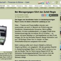 """FehrAdvice den Medien: """"Bei Managergagen führt der Zufall Regie"""""""