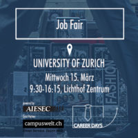 Save the date: FehrAdvice bei den Career Days der Universität Zürich, 15.03.2017