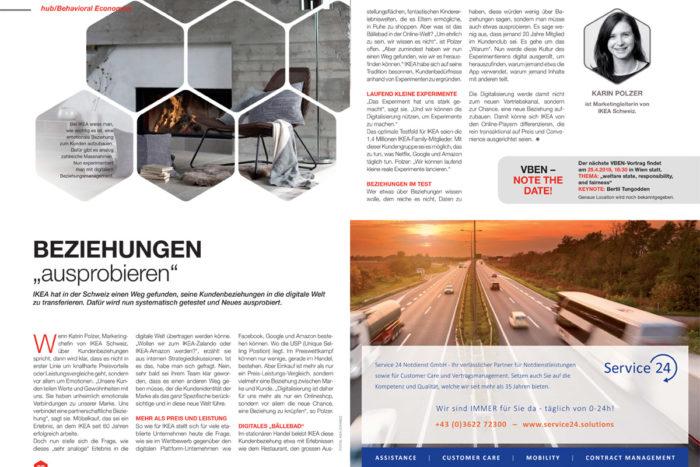 Lesetipp: Verhaltensökonomie im Magazin der Handelskammer Schweiz/Österreich/Liechtenstein
