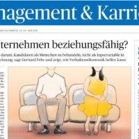 """Gerhard Fehr in der Tageszeitung """"Die Presse"""": Sind Unternehmen beziehungsfähig?"""